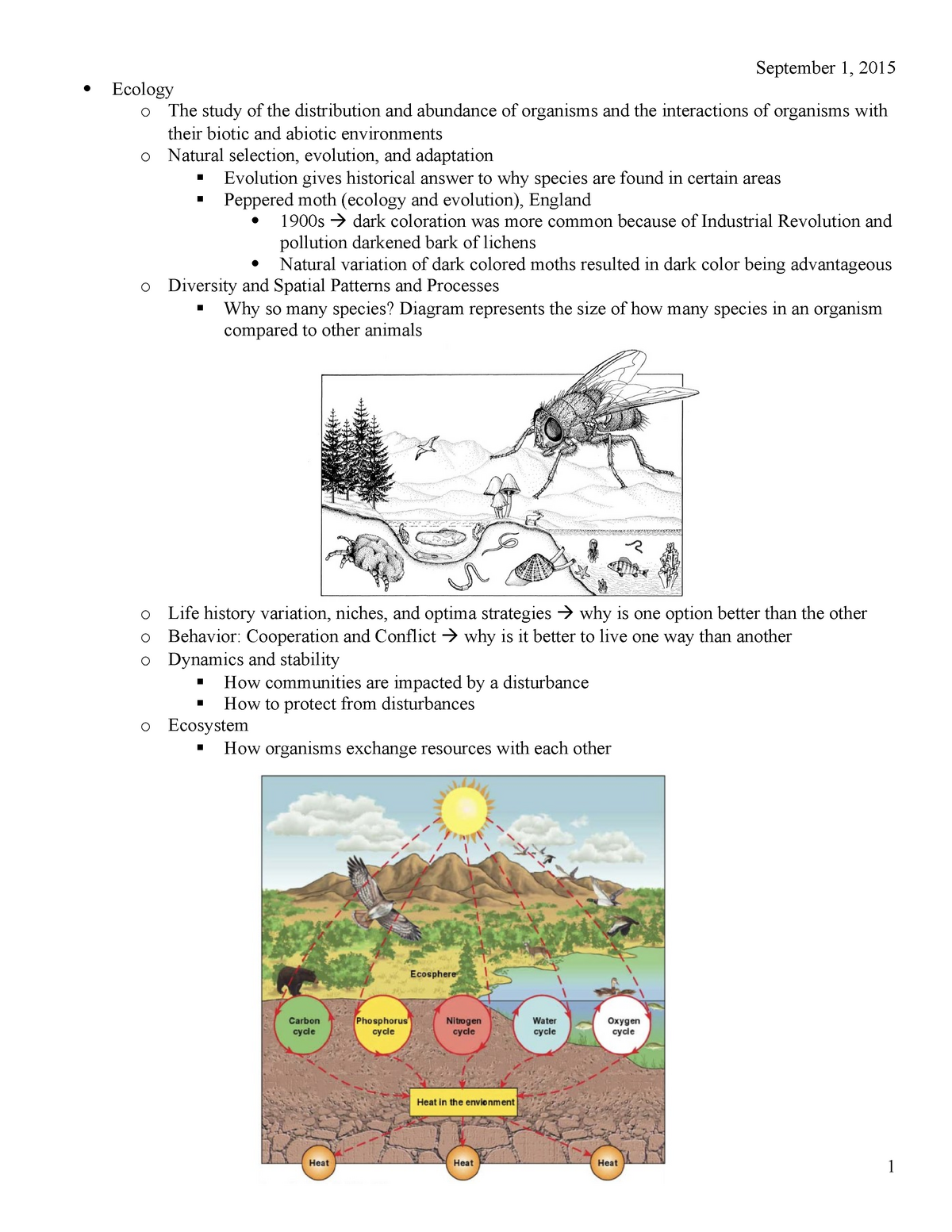 Lecture notes, lecture all - EEB 2244: General Ecology - StuDocu