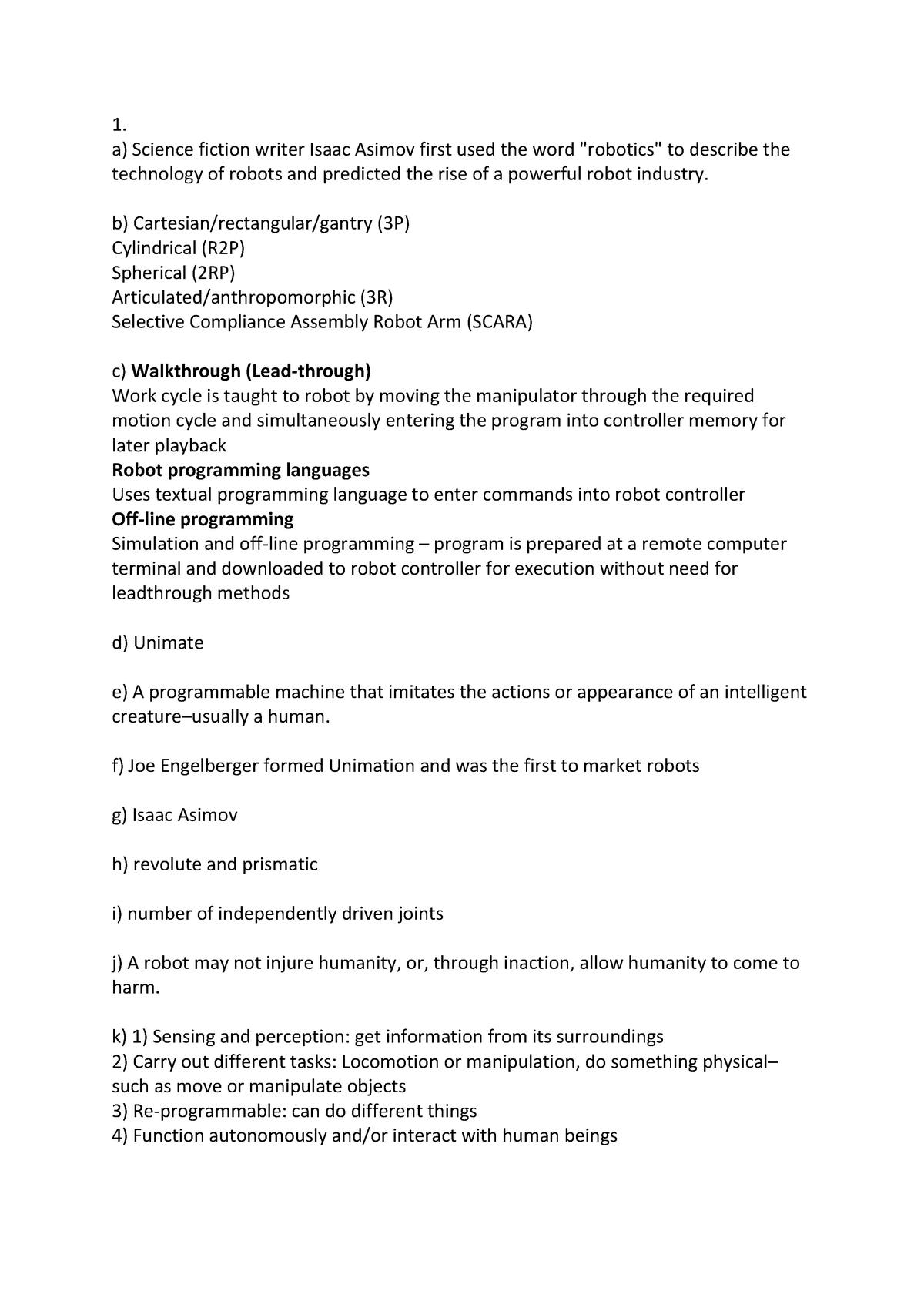 Revision Question answer - EGA366 - Swansea - StuDocu
