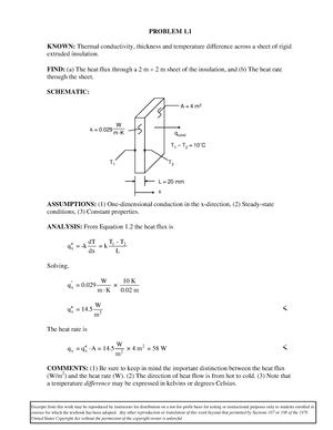 Fundamentals of heat and mass transfer incropera solutions studocu fandeluxe Choice Image