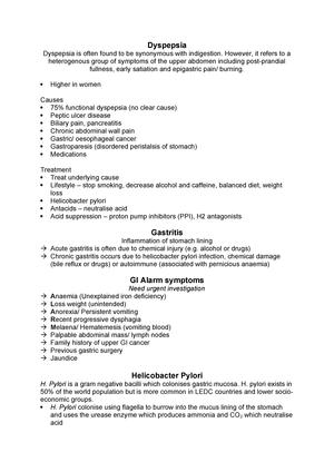 Dyspepsia, gastritis, H Pylori, alarm symptoms - PM-240F: Doctor as