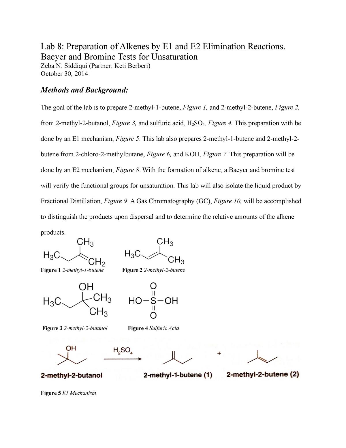 Lab Report 8 - Lecture notes 6 8 - CHEM 233 - UIC - StuDocu