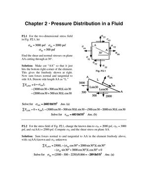 Fluid Mechanics 8th Edition White Solution Manual Studocu