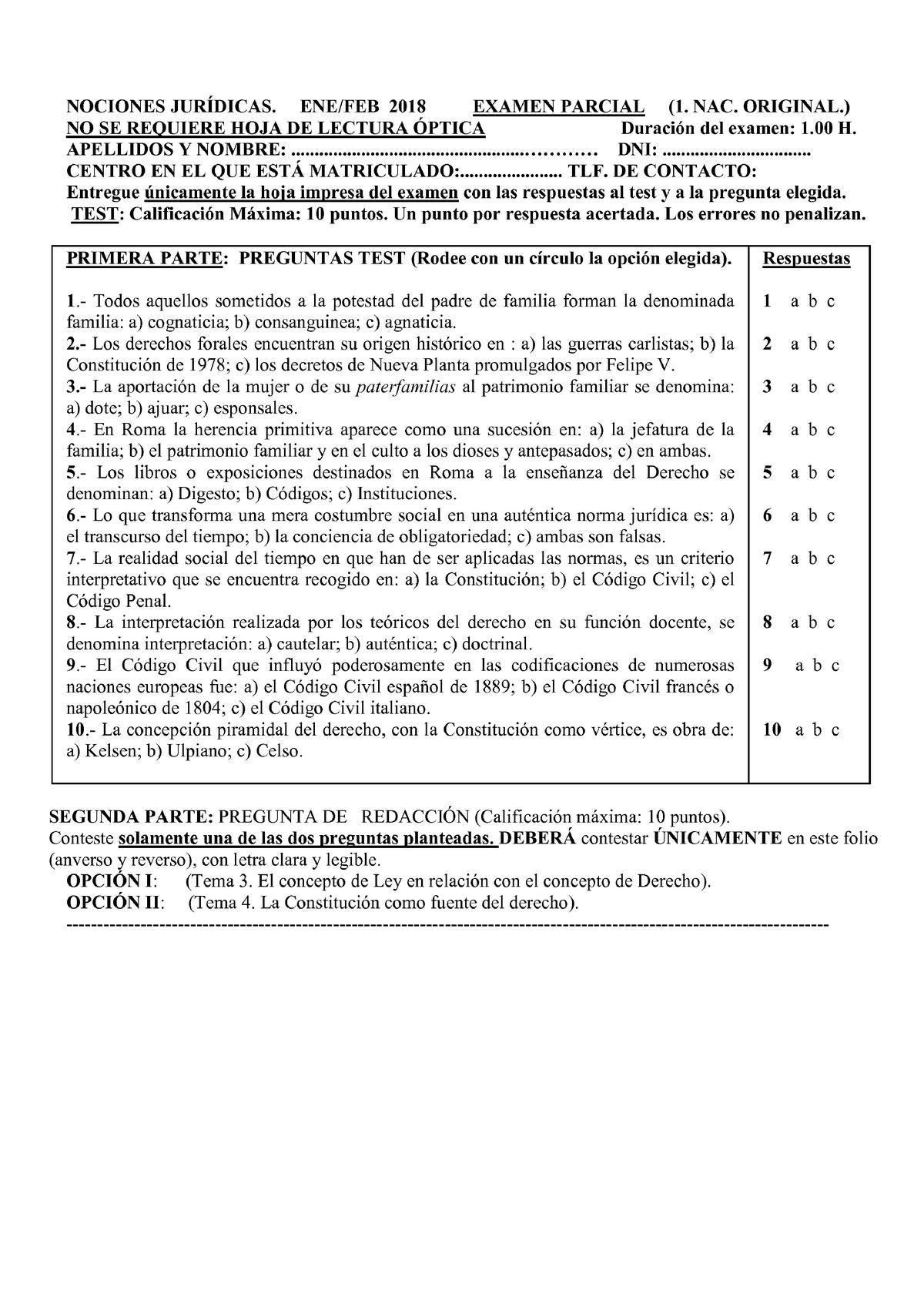 Examen 24 Mayo Preguntas Nociones Juridicas Ene Feb 2018 Examen Parcial Nac Studocu