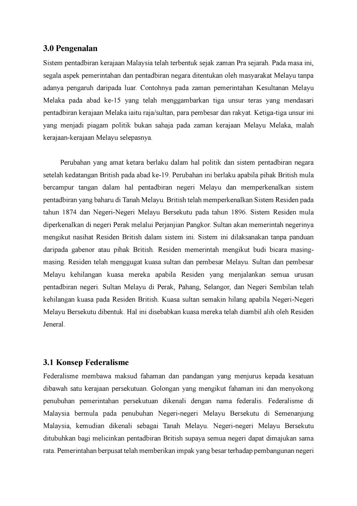 Laporan Bertulis Pengajian Malaysia Bab 3 Warning Tt Undefined Function 32 Studocu