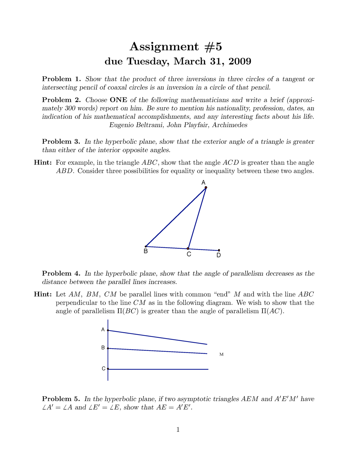 Assignment 5 - Questions - Math 2210: Introduction to