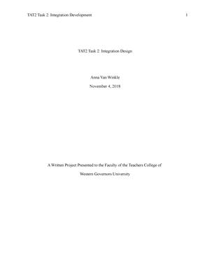TAT2 task2 essay Van Winkle - TAT2: Technology Production - StuDocu