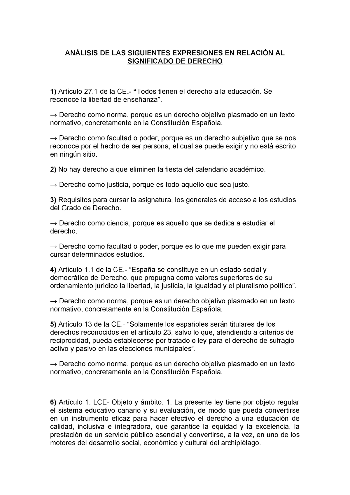 cual es el significado del articulo 1