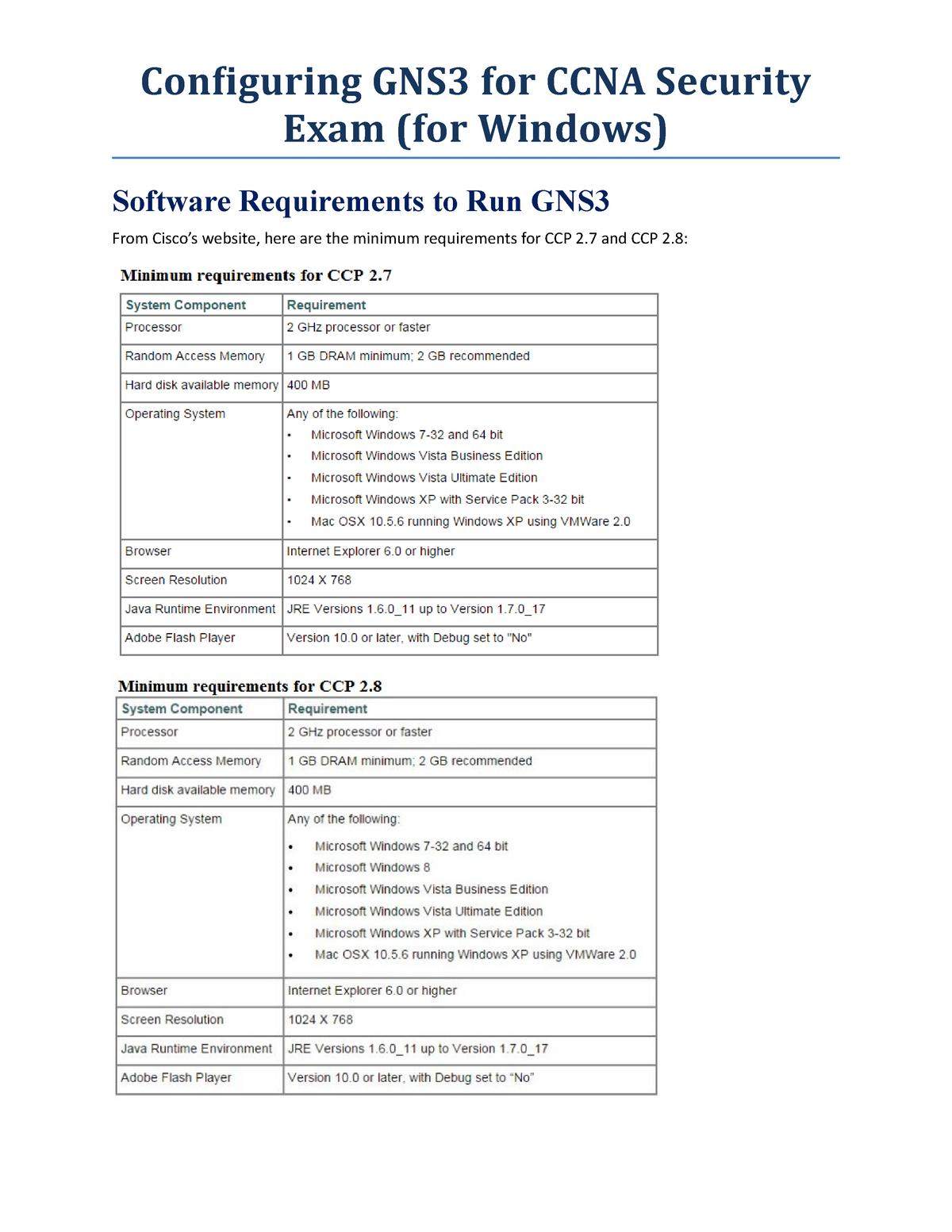 GNS3 lab setup for CCNA Security - ME IEM 441 - PUCMM - StuDocu