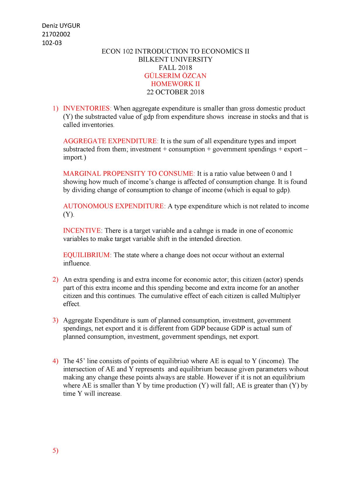 Exam 2018 - ECON 405: Issues in Macro Economics - StuDocu
