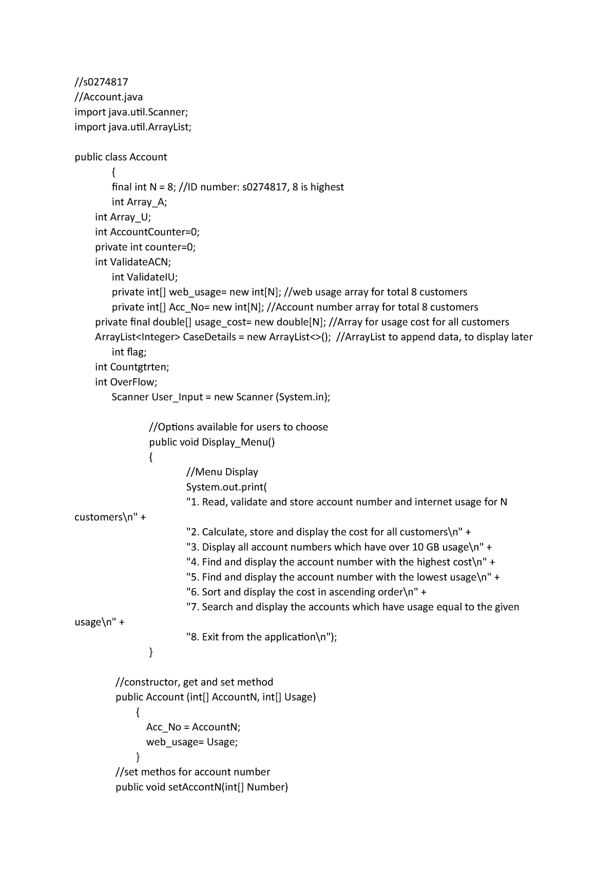 Assignment 2 code - COIT20245 Introduction to Programming