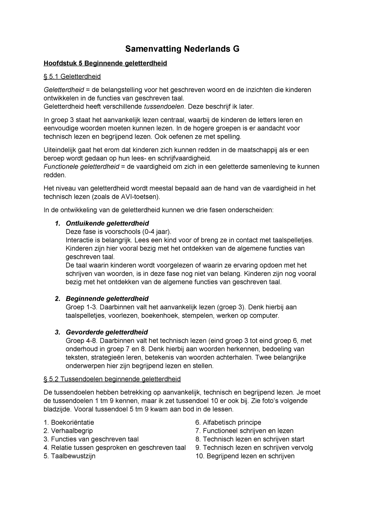 Onwijs Samenvatting%20NED-G - - StudeerSnel JH-37
