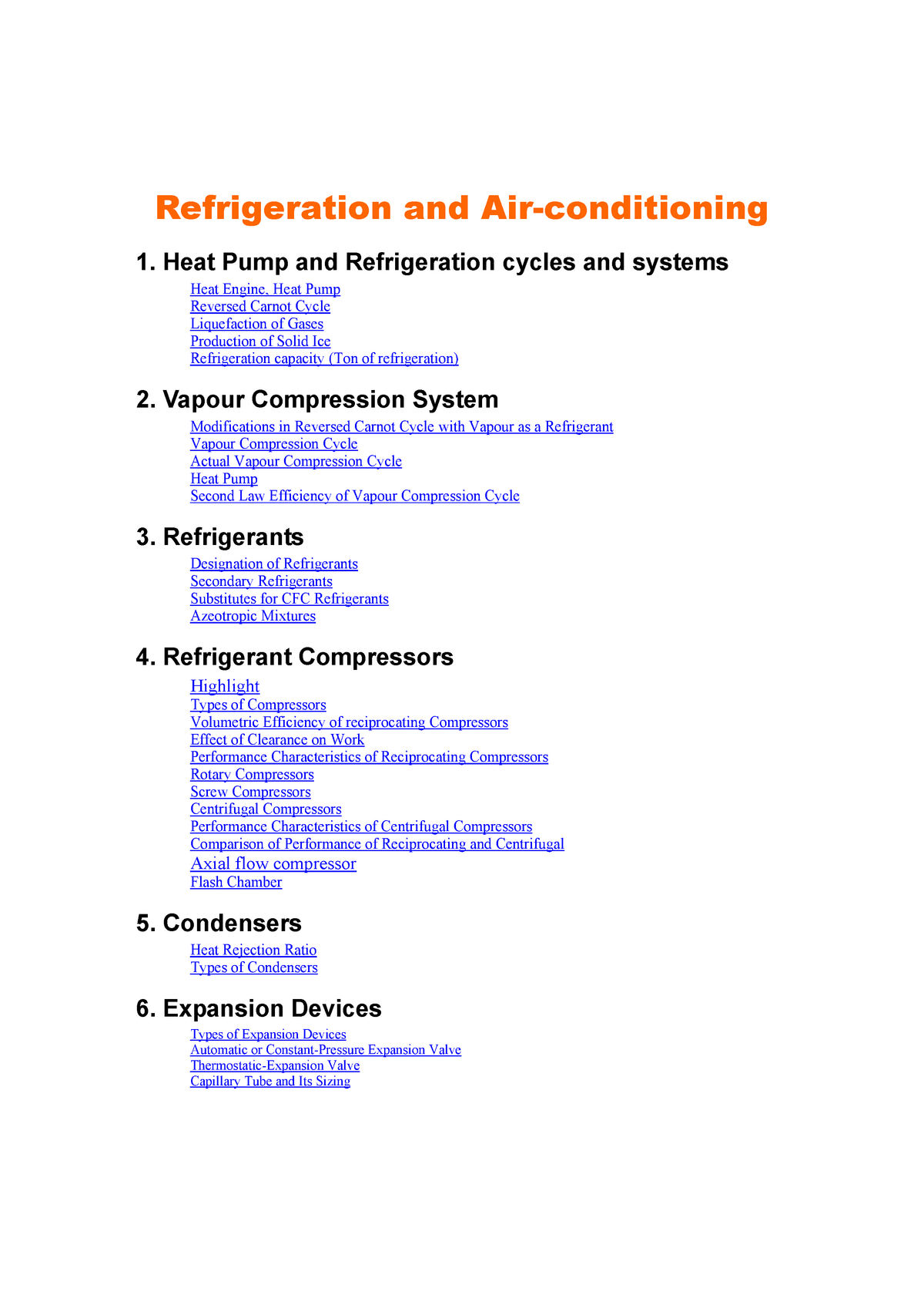 Refrigeration and Air-Conditioning - S K Mondal - AEC302