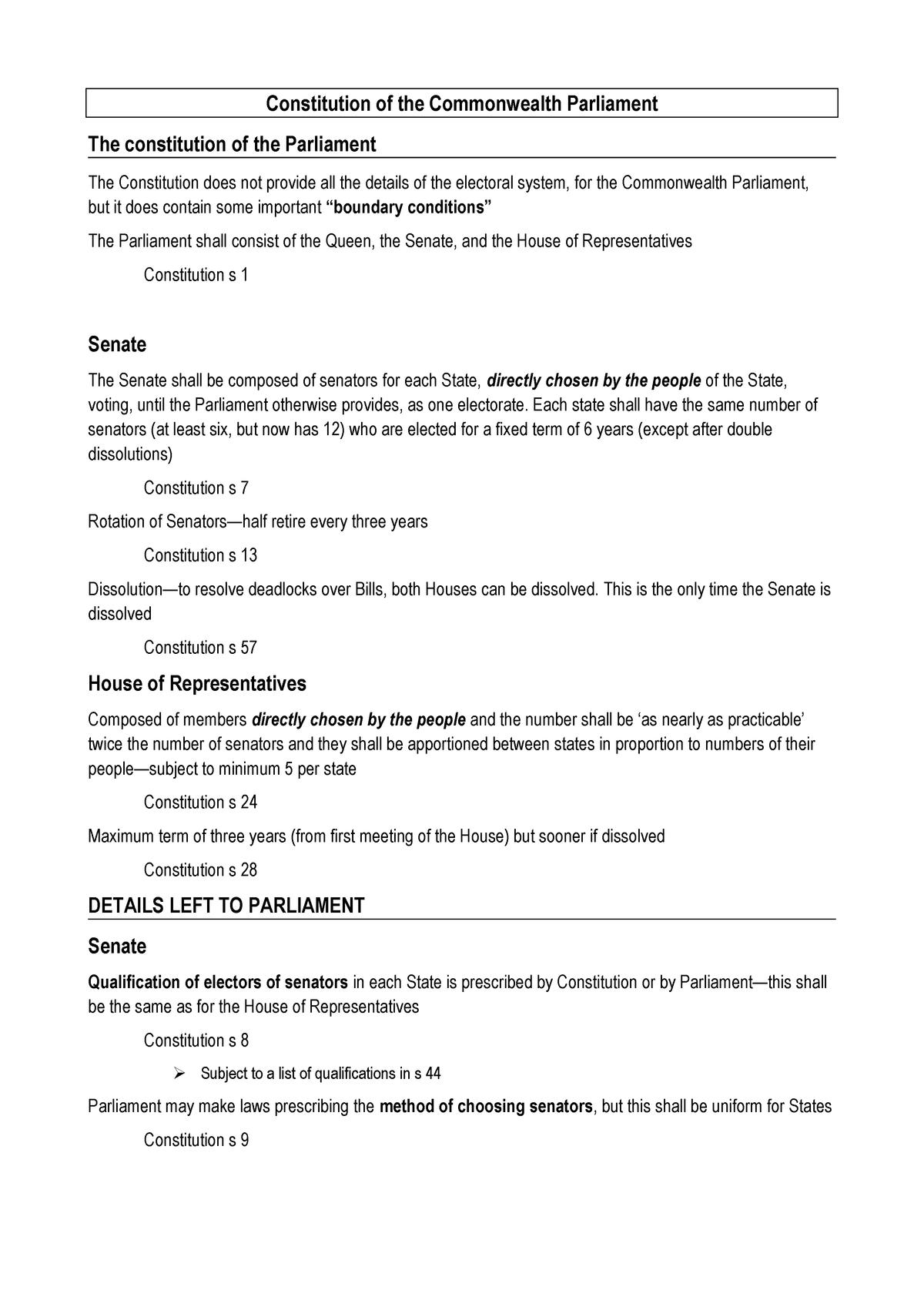 Const notes w3-8 - LWB242 - QUT - StuDocu