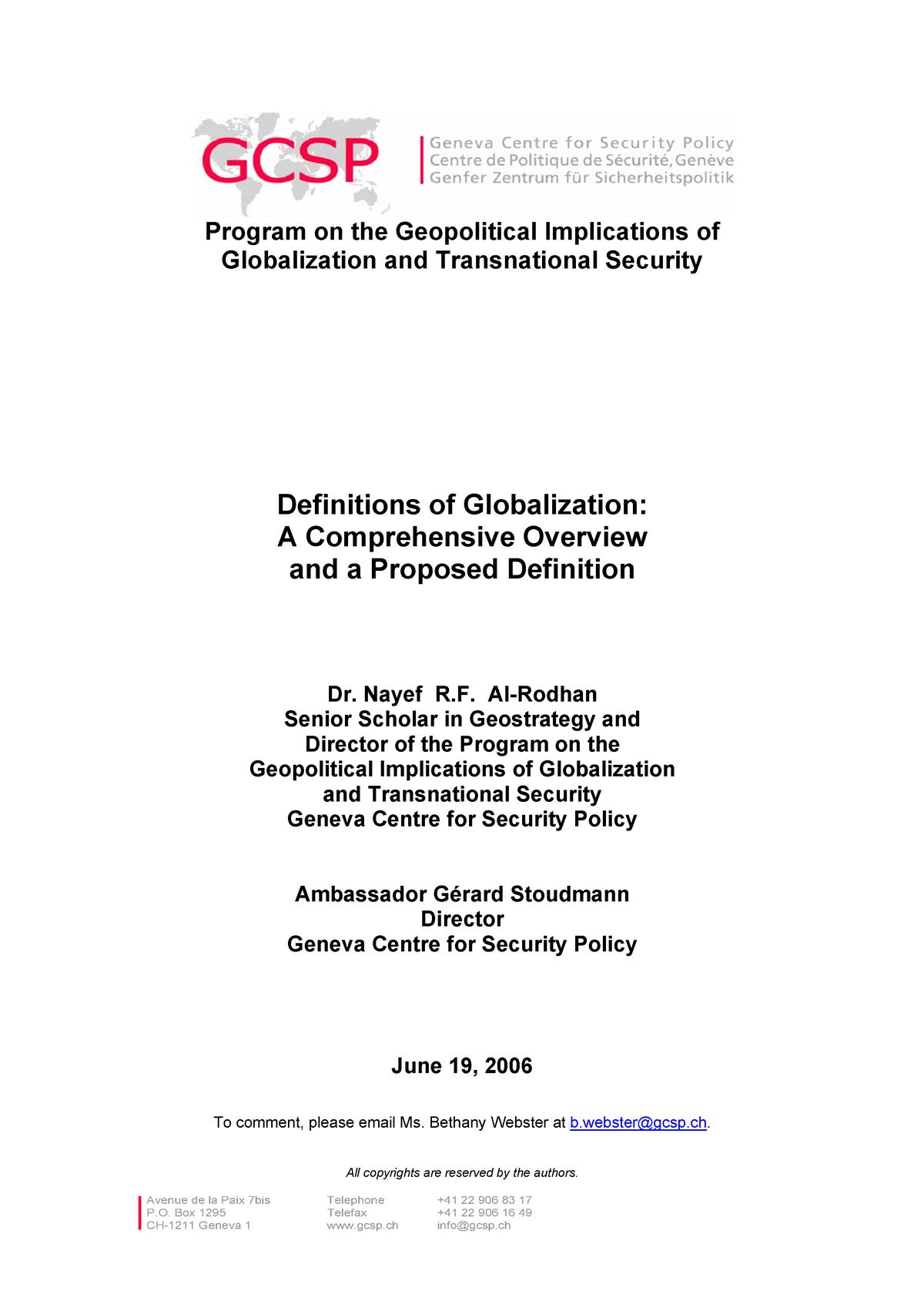 beste Qualität Outlet-Store Beamten wählen Definitions of Globalization - A Comprehensive Overview and ...