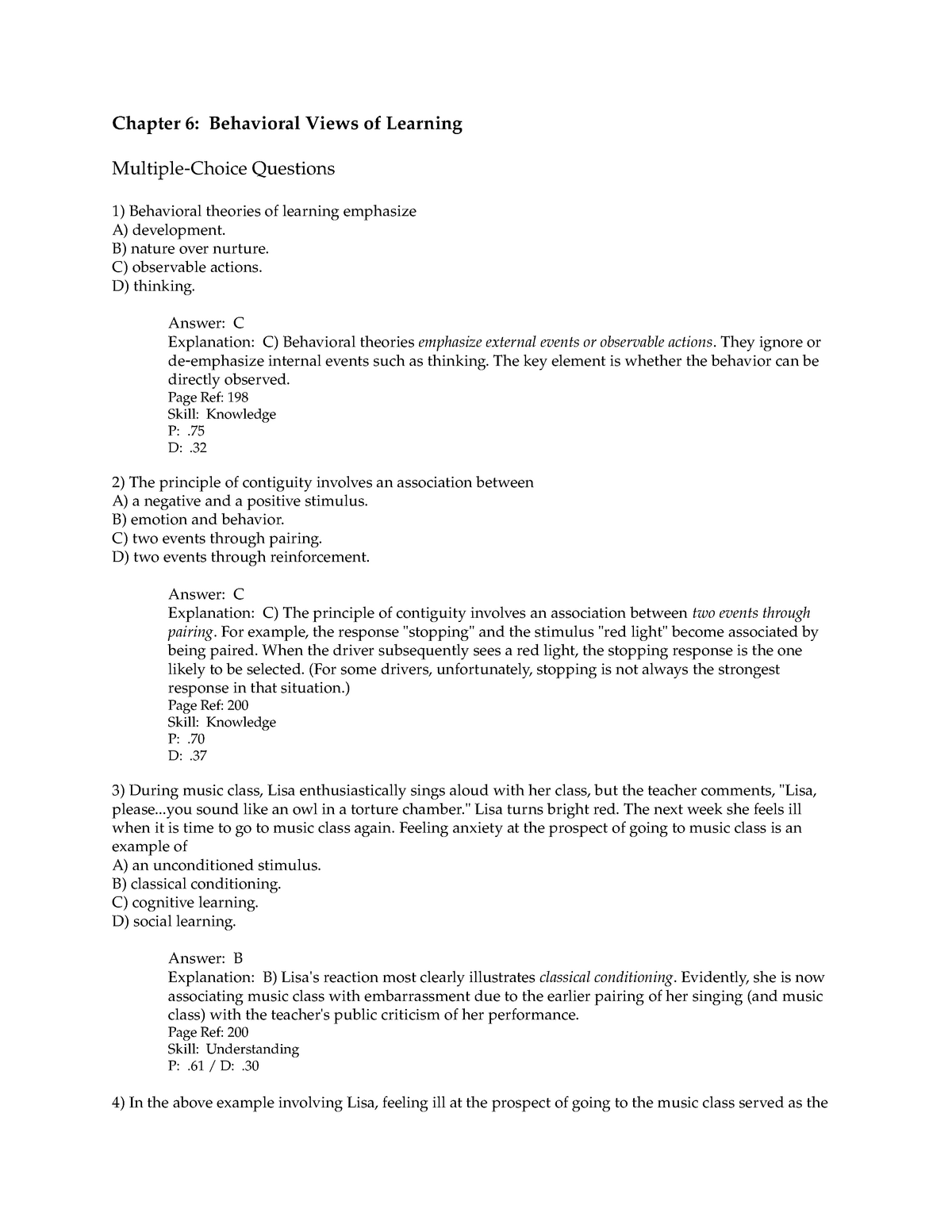Chapter 6 Practice Questions with answers - StuDocu