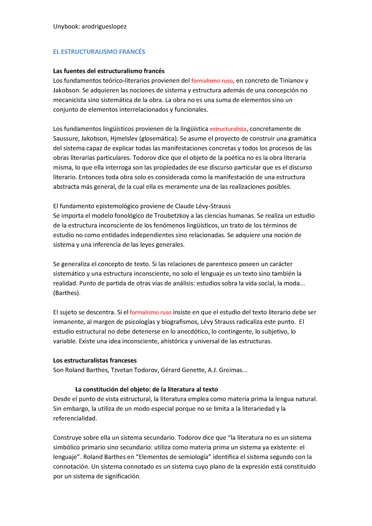 13 Estructuralismo Teoría De La Literatura 35664 Uv
