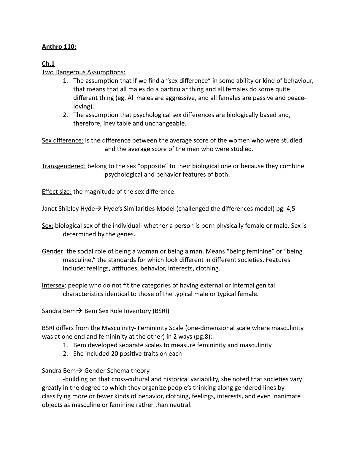 Lecture Notes, Lectures 1-7 - Anth 110 - MacEwan - StuDocu
