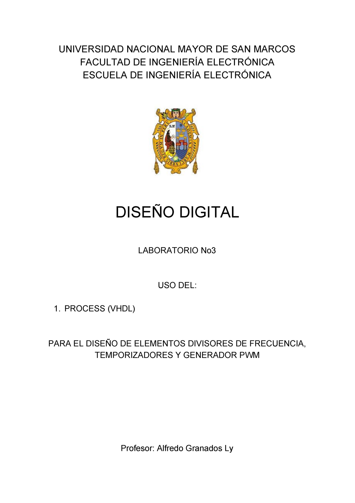 Divisores Temporisadores PWM - 190085: Diseño digital - StuDocu