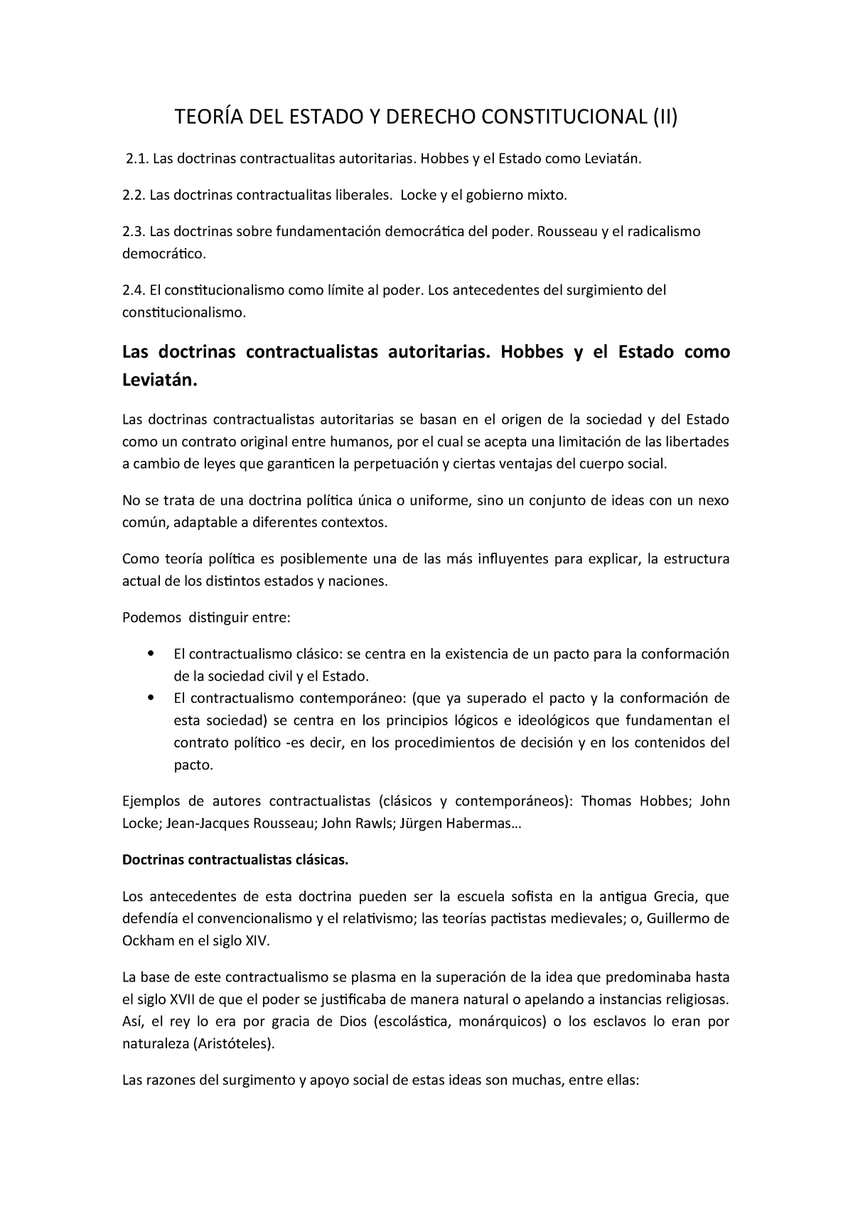 Teoría Del Estado Y Derecho Constituciona 1 Uv Studocu