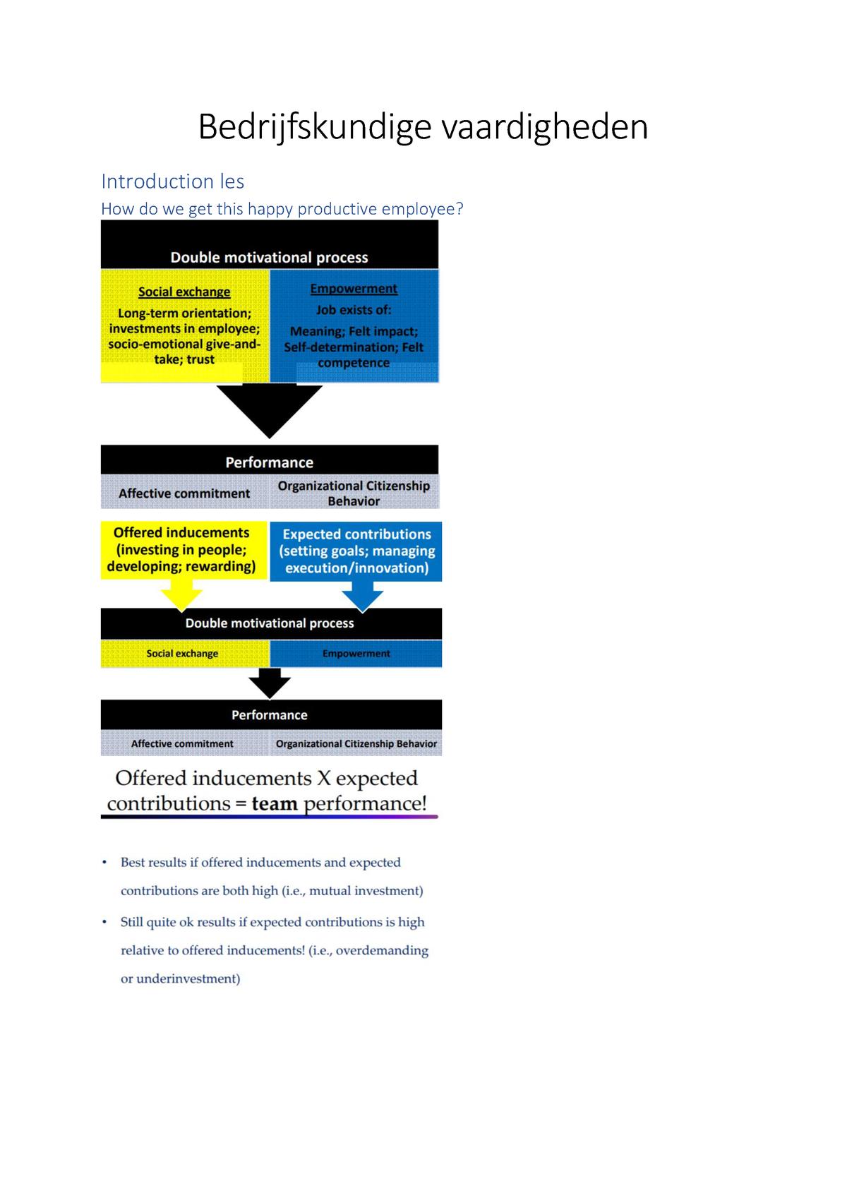 Bedrijfskundige vaardigheden - F000551 - StuDocu