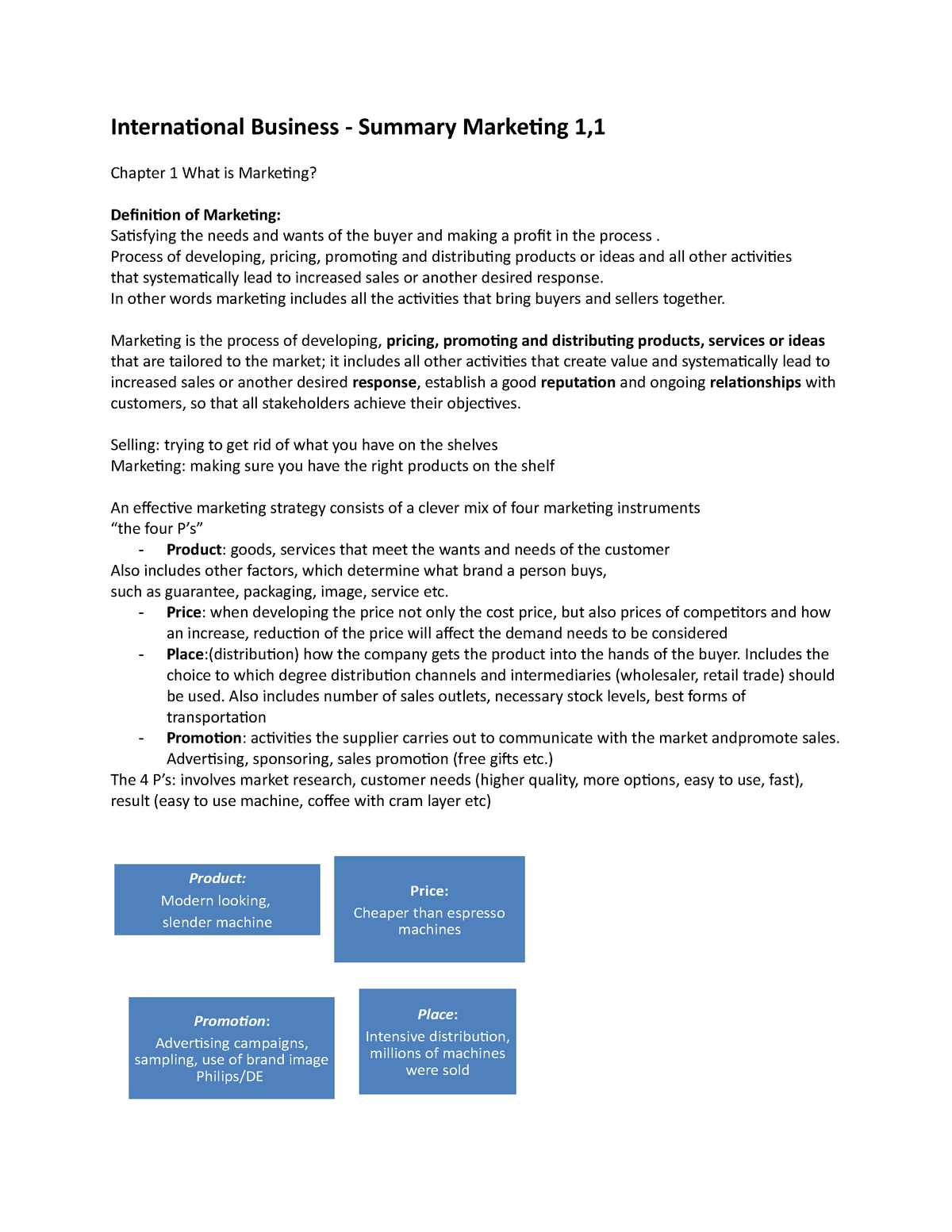 Samenvatting - compleet - All chapters and powerpoint sheets