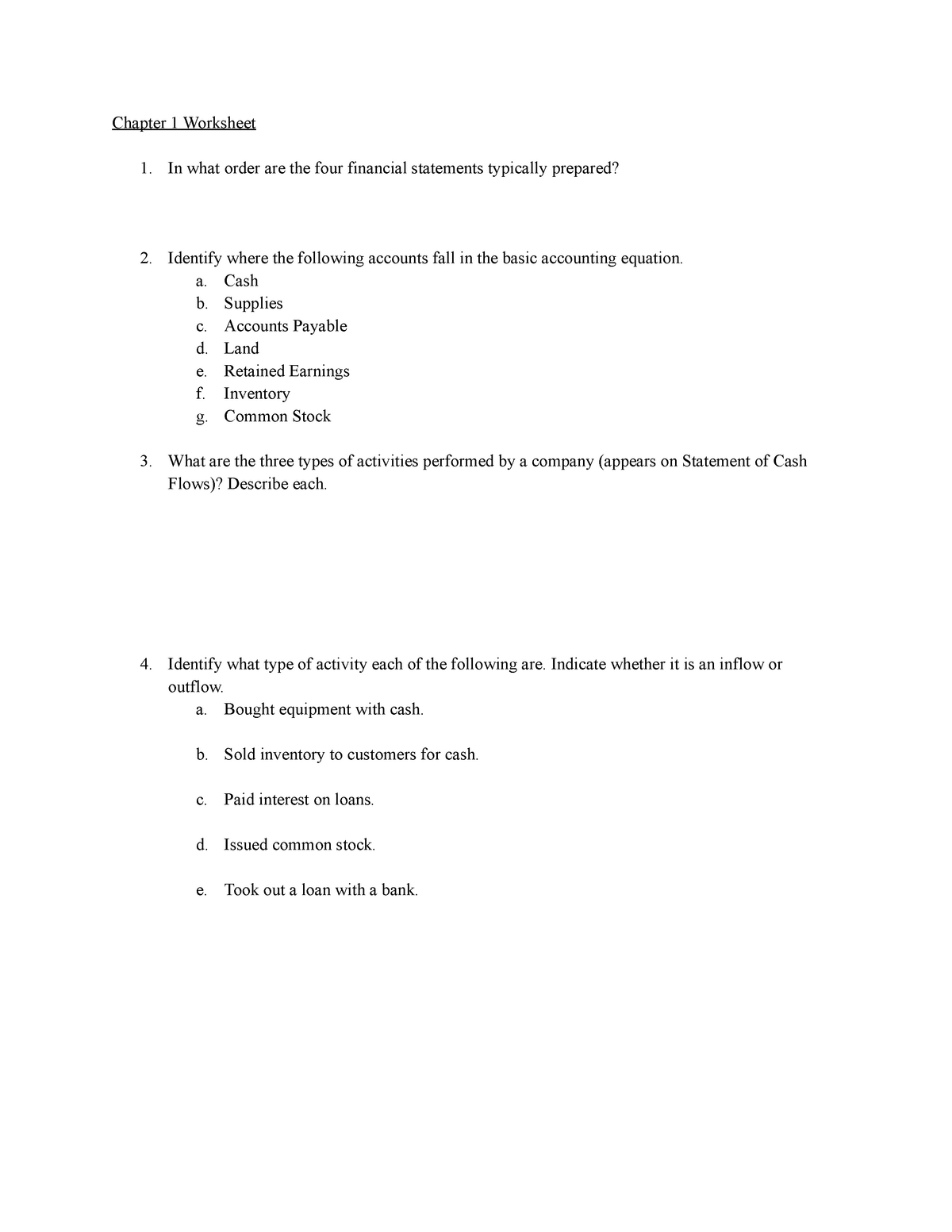 Chapter 1 Worksheet - PEER Assisted Learning Assignment ...