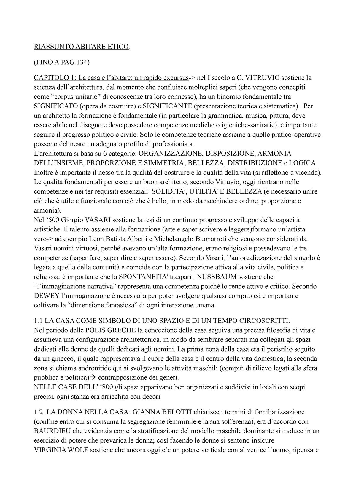 Riassunto 13220 L'abitare Etico Gallerani Studocu Manuela WYbEDeIH29