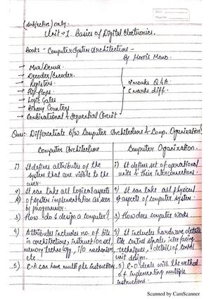 Computer Organization And Design Lpu Studocu