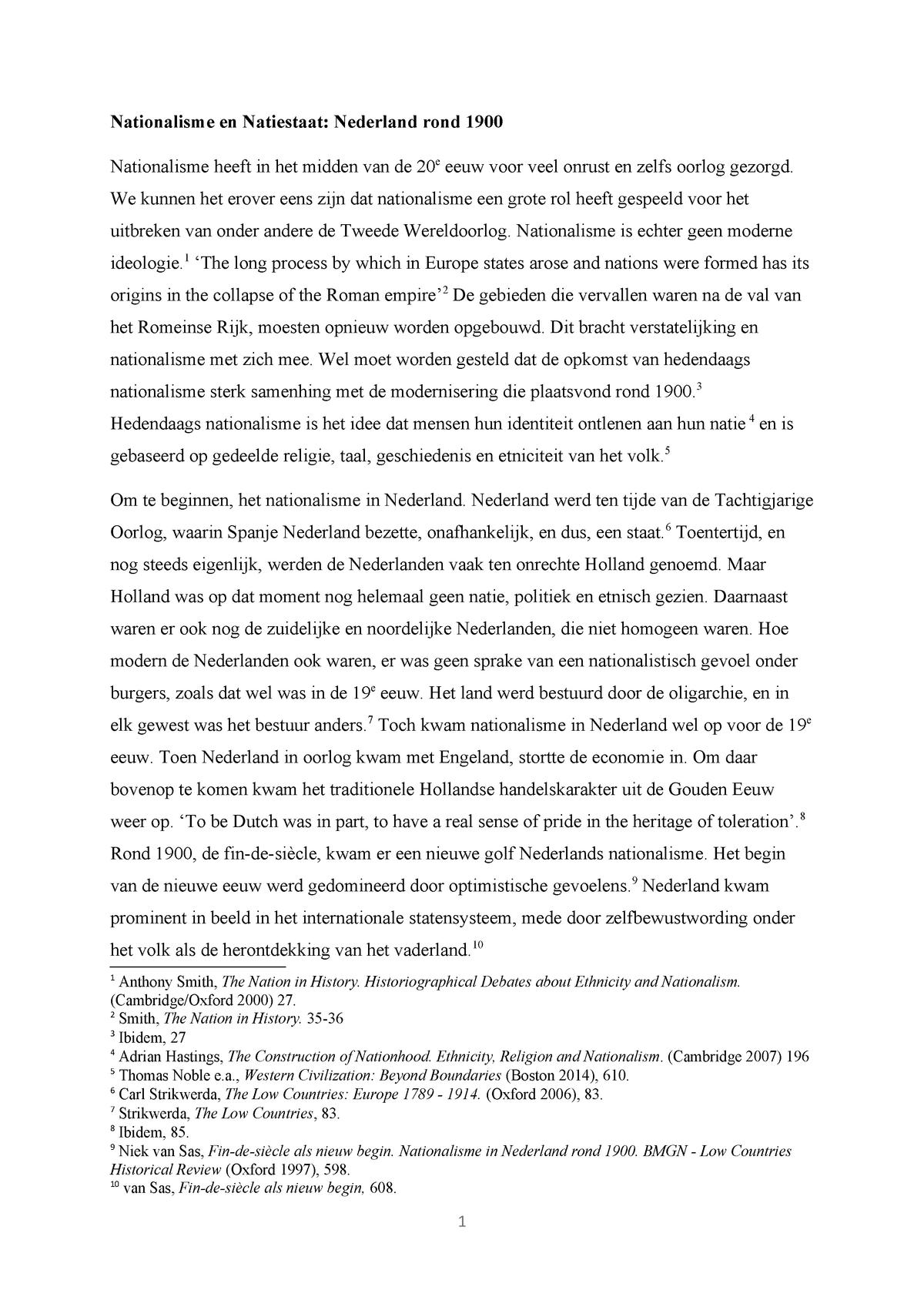 Essay Nationalisme Modern Ge1v13008 Universiteit Utrecht