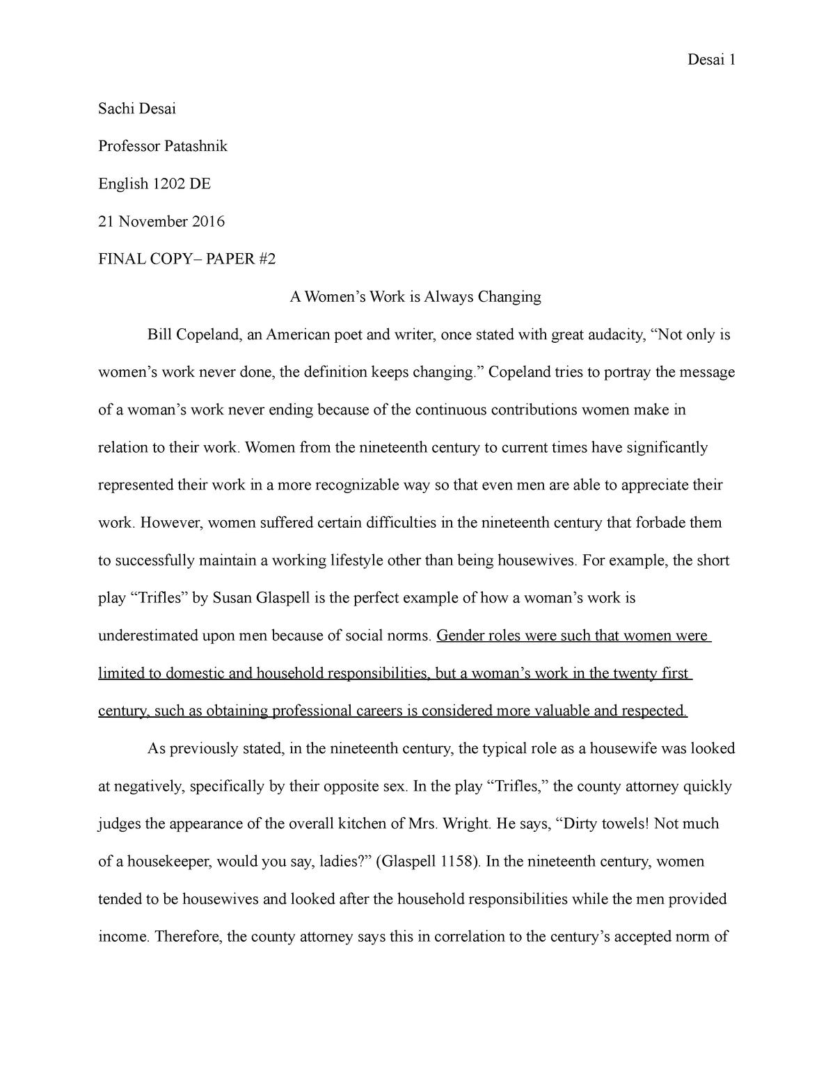 Trifle susan glaspell essay popular phd essay editor site usa