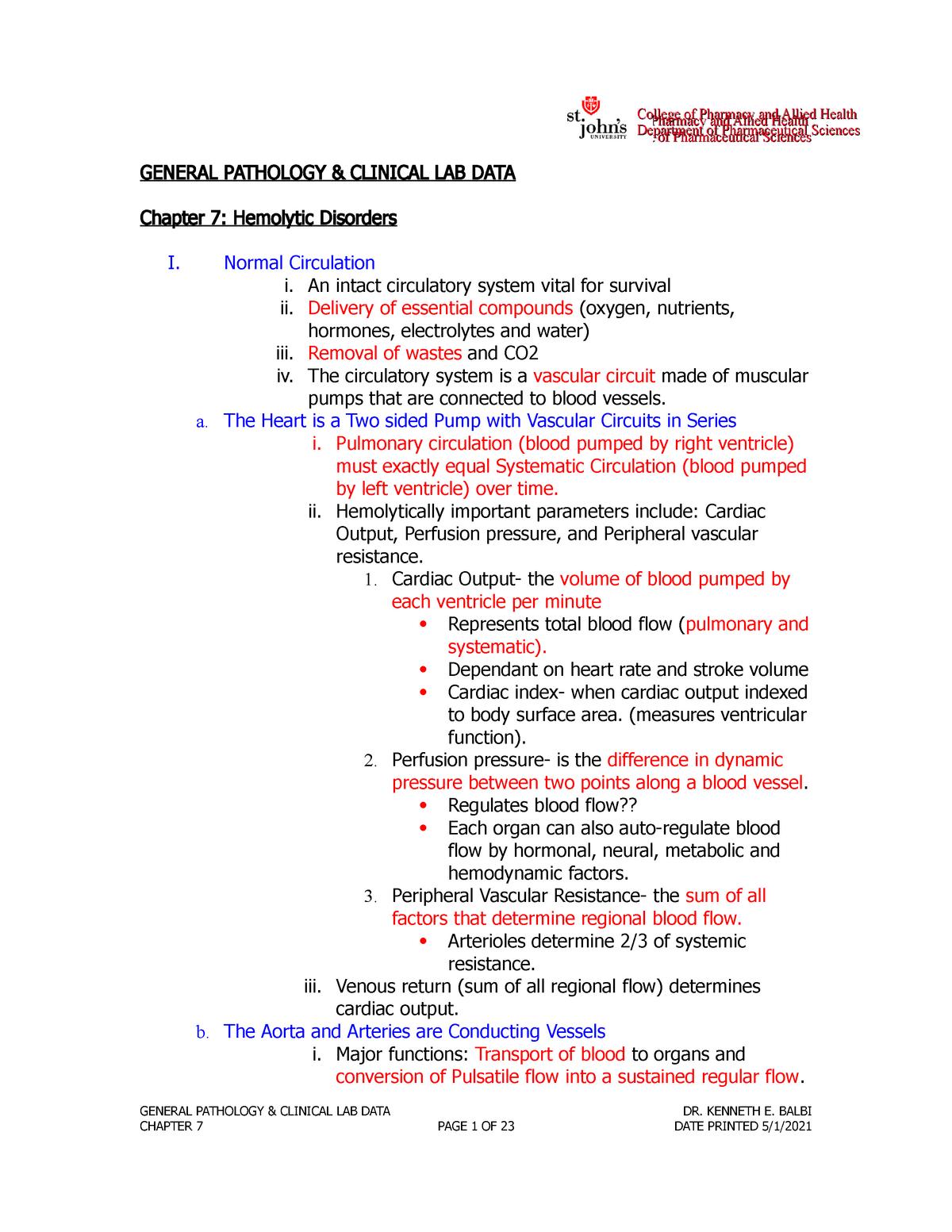 General Pathology Chapter 7 Outline - StuDocu