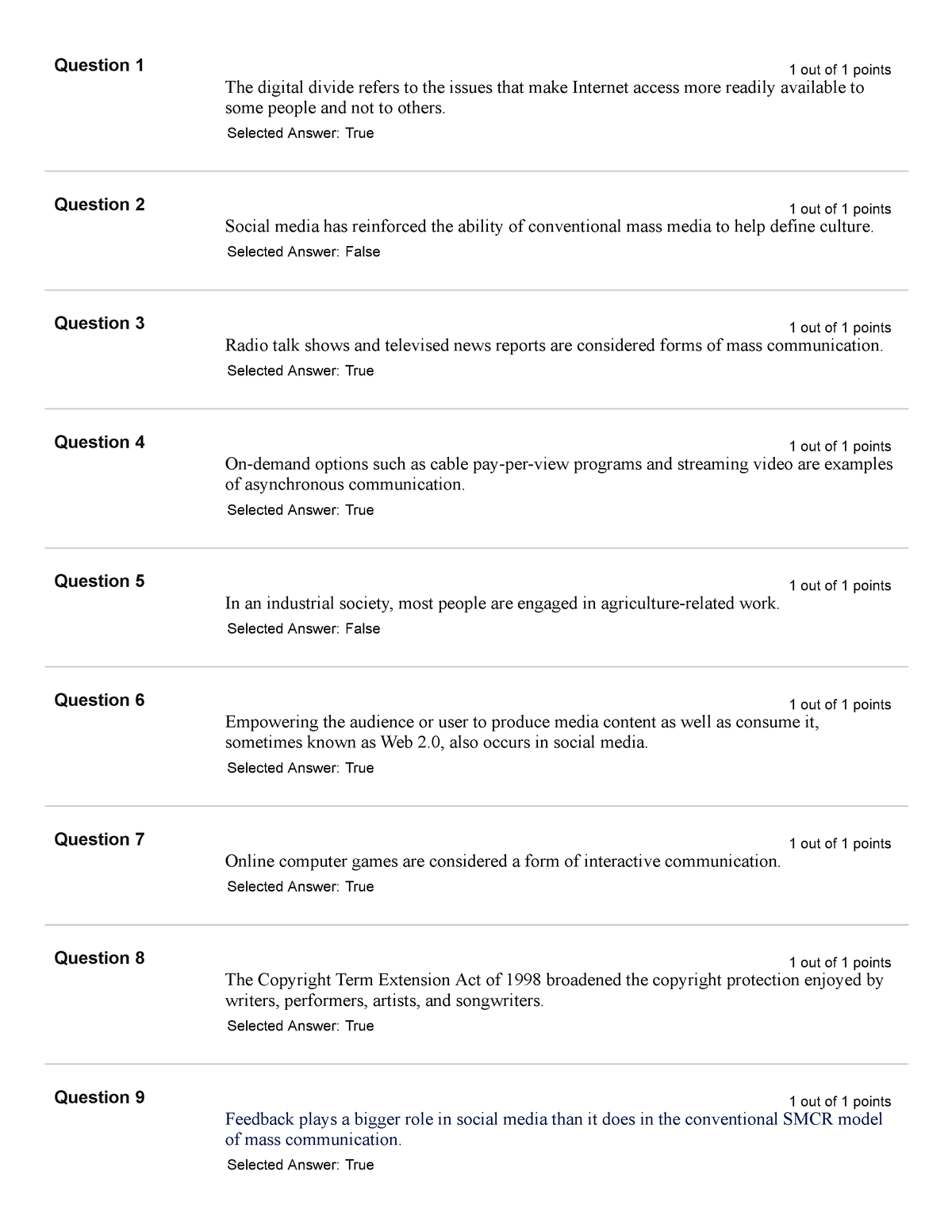 Exam 2015 - SCOM 110: Media and Culture - StuDocu