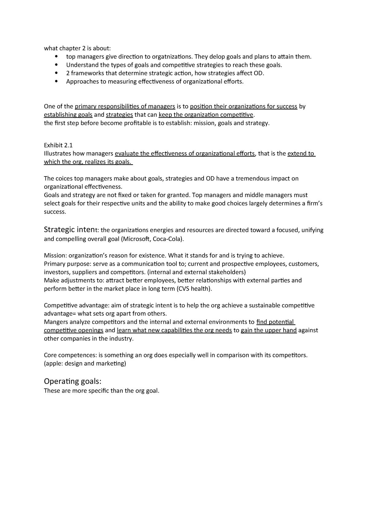 Summary Organization Theory and Design 03 Apr 2018 - StuDocu