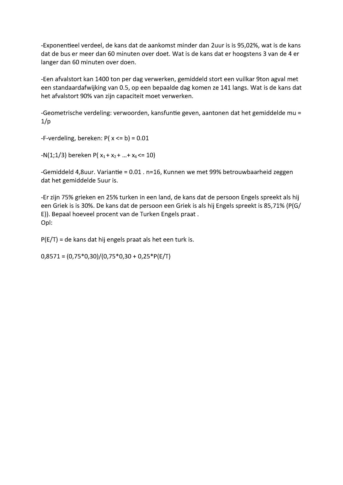 Tentamen Januari 2017 Vragen Statistiek K000441 Studocu