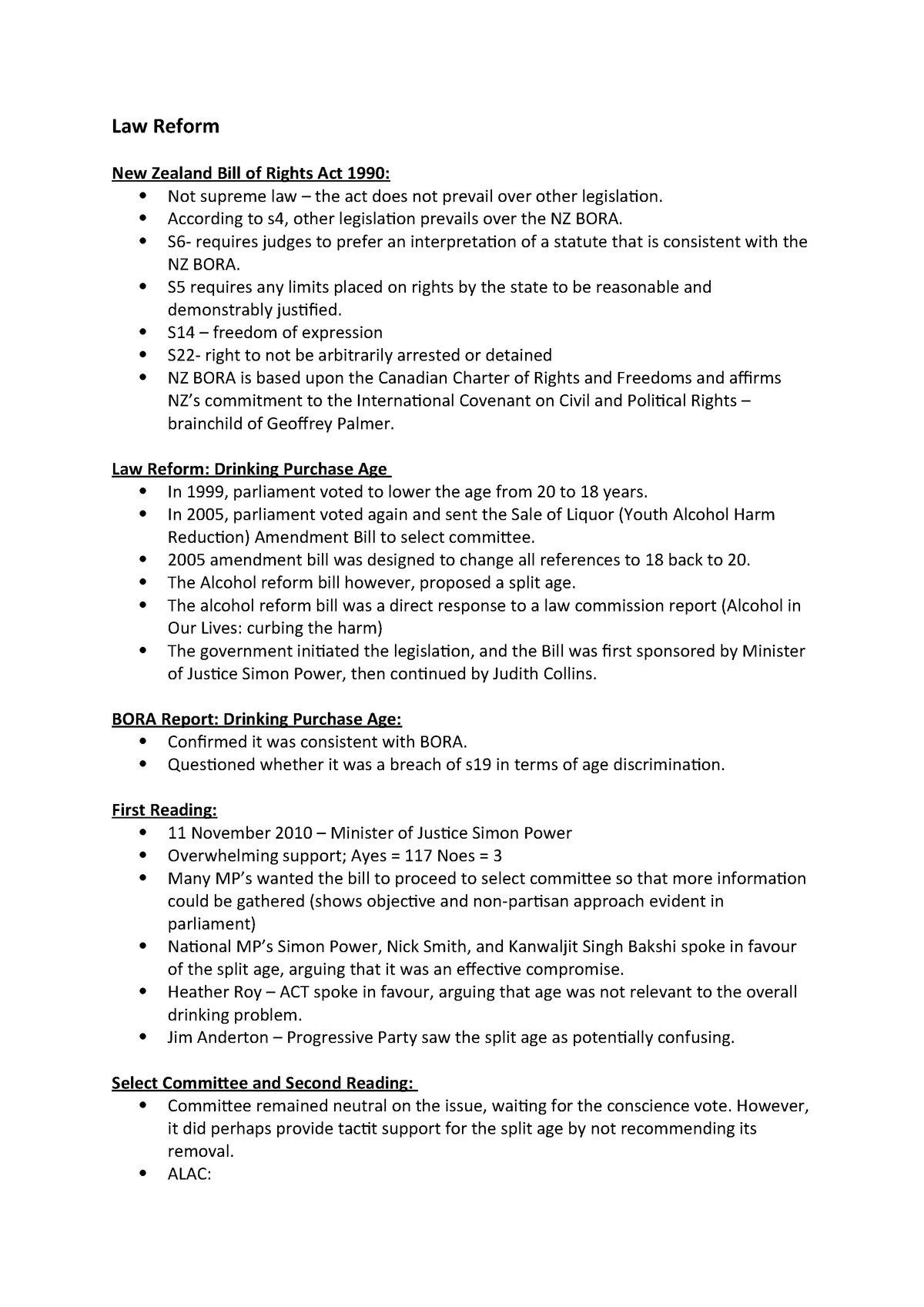 LAWS 121 - Exam Notes - LAWS121 - Victoria University - StuDocu