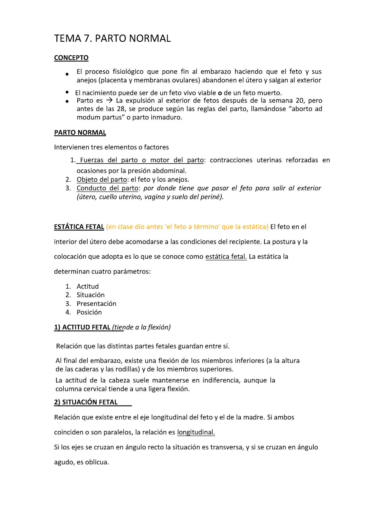 f9ba2d49d Tema 7. Parto Normal - 44593  Obstetricia Y Ginecologia - StuDocu
