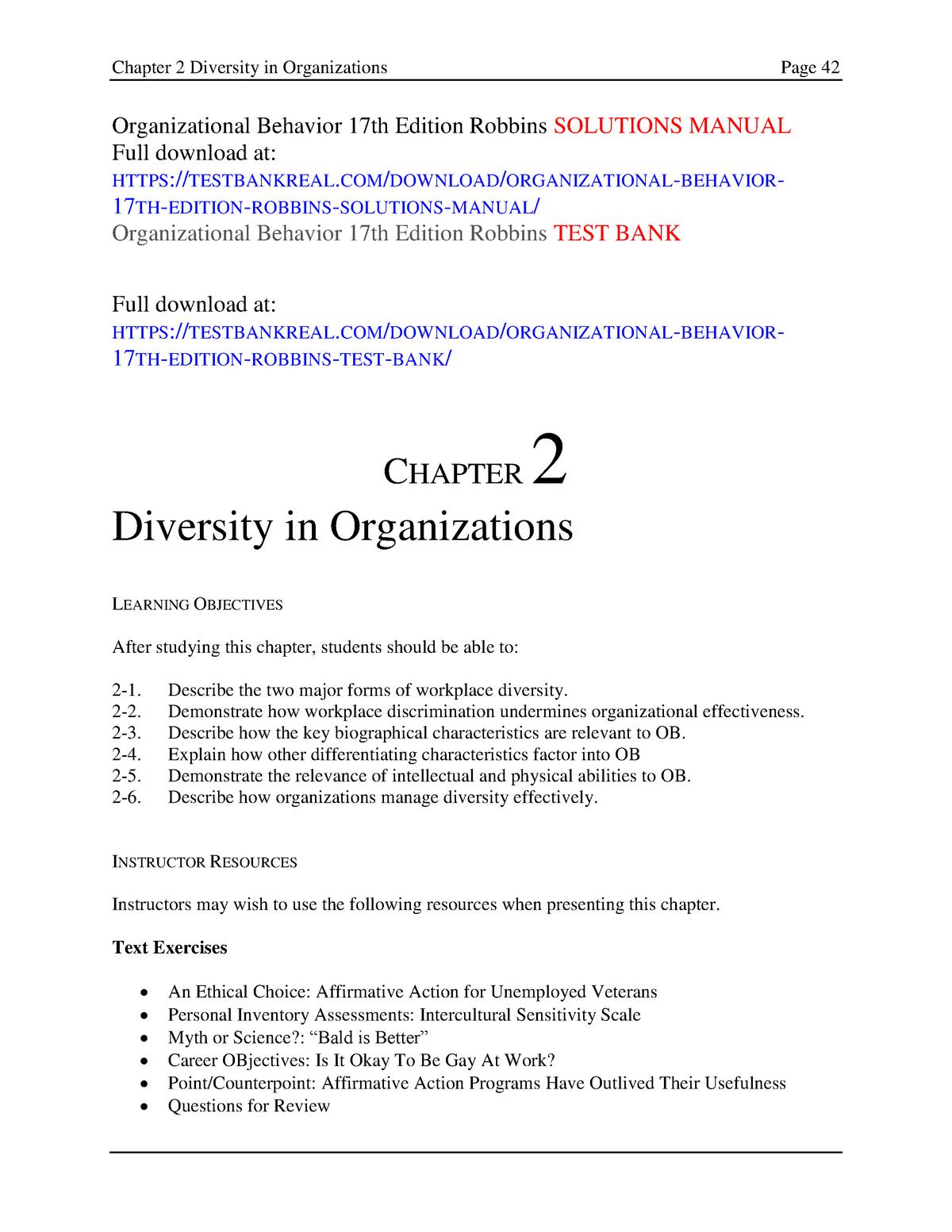 363730211 Organizational Behavior 17th Edition Robbins