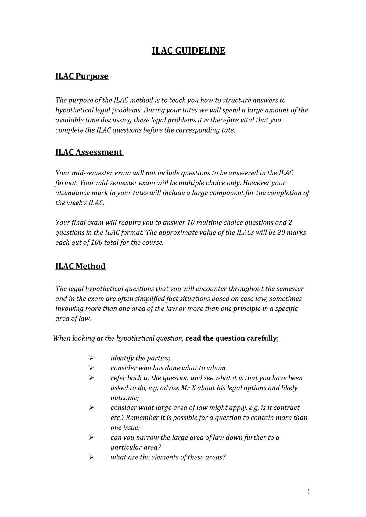 Practical - ILAC Guideline No 1 - 2007GIR - Griffith - StuDocu