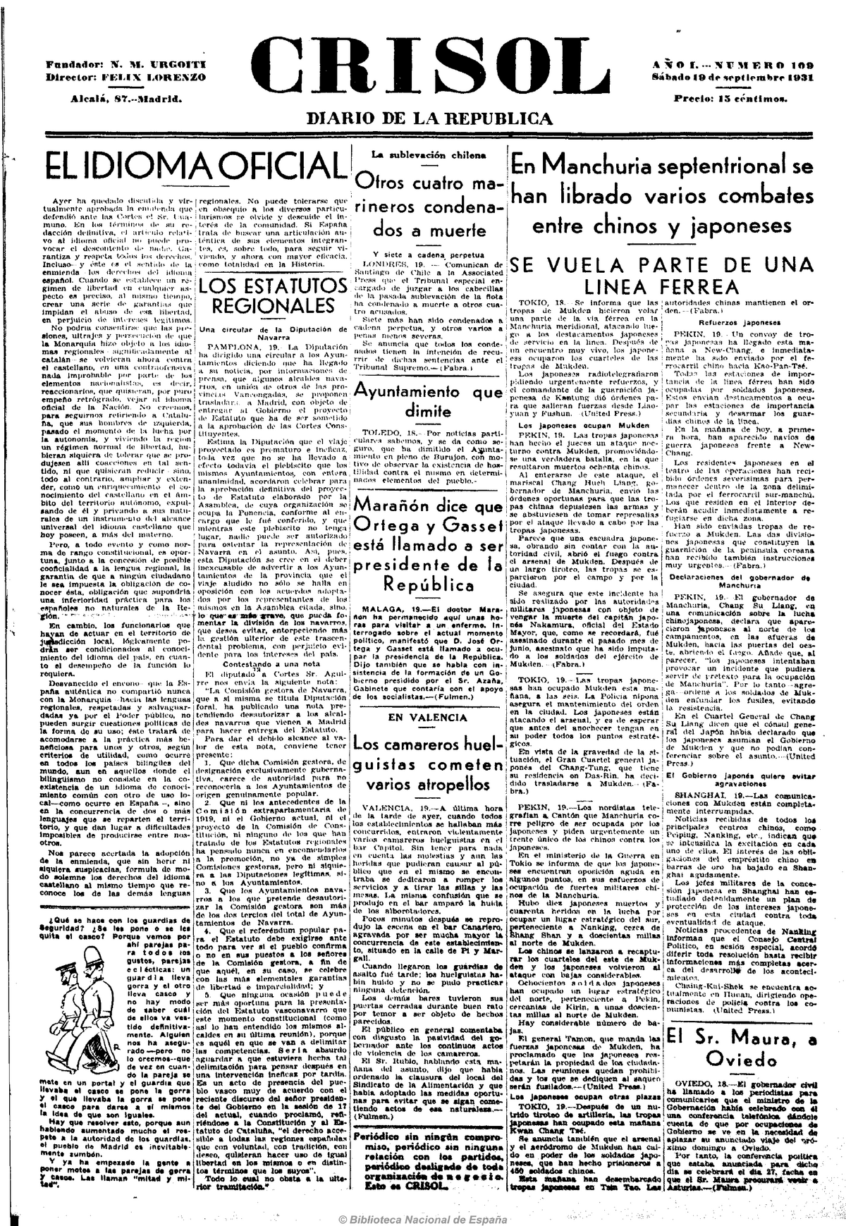 Crisol (Madrid  1931)  19-9-1931nesa - Historia 001 - UNSA