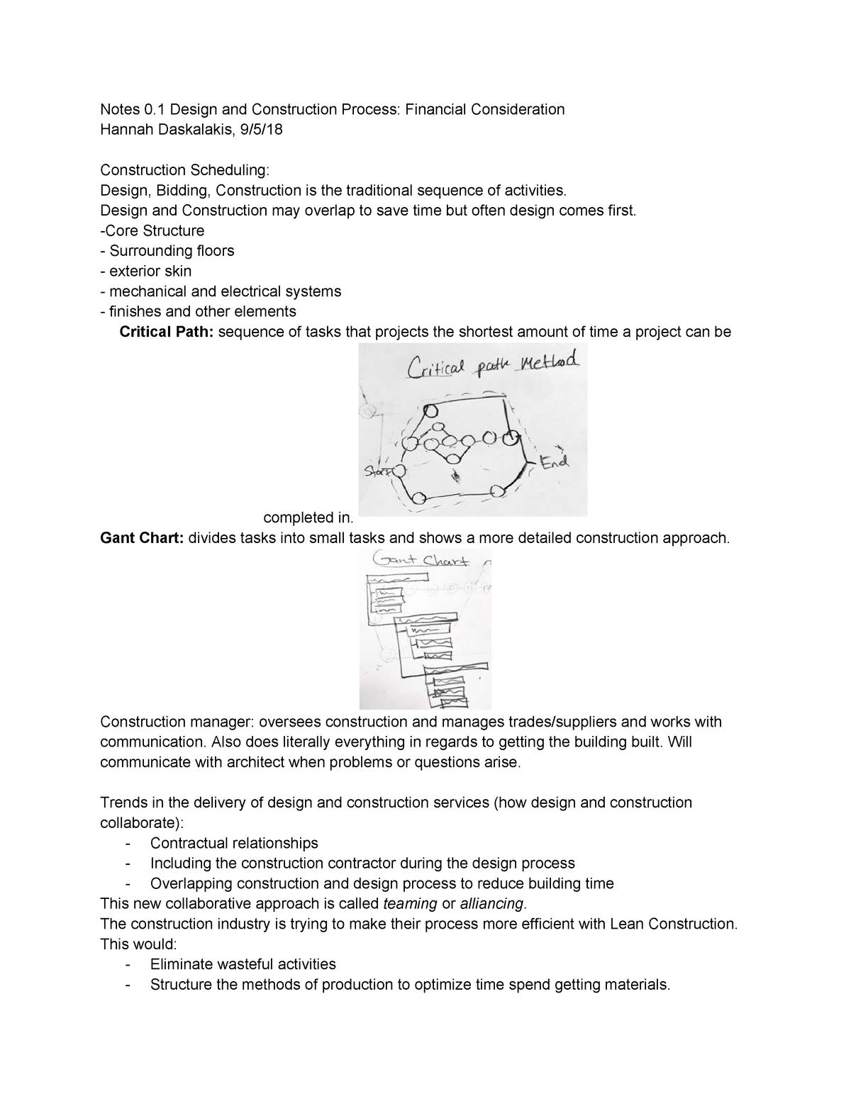 Notes 1 Building Tech 4 - ARCH 2430 - StuDocu