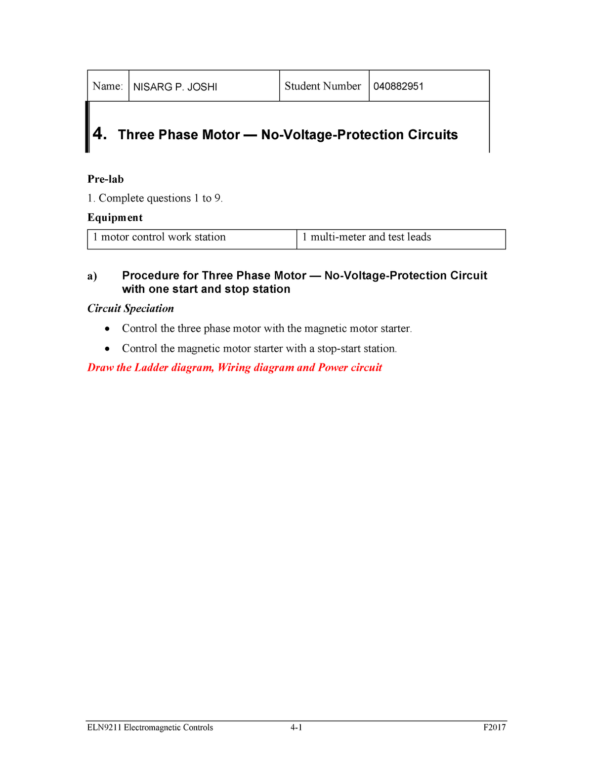 04 Week4 Lab 4 Three Phase Motor With Multiple Stop Start Stations Josh0030 Studocu