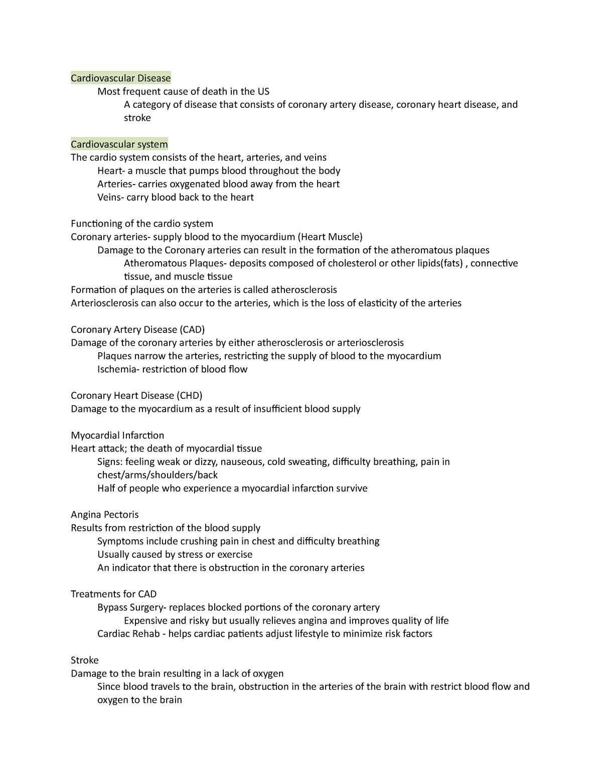 Health Psychology Chapter 9 - PSY 205: Health Psychology