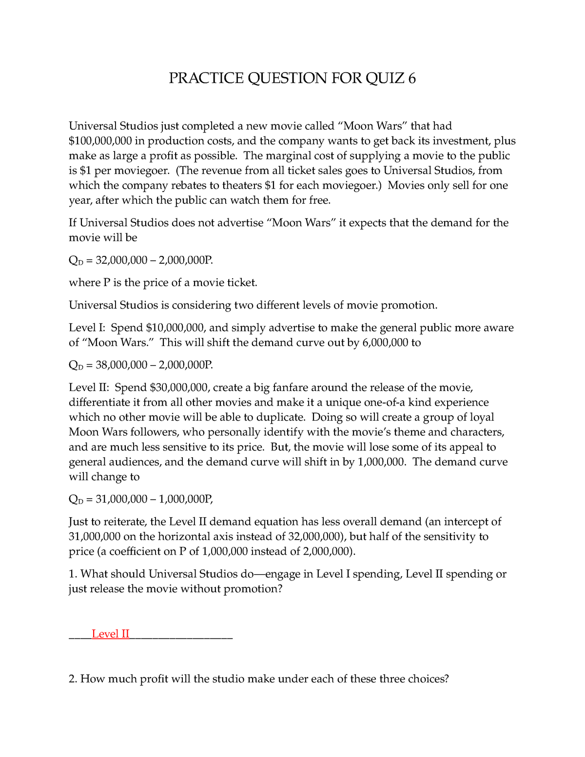 Answers to Moon Wars Practice Quiz - Chapter 9 - BUSE 6202