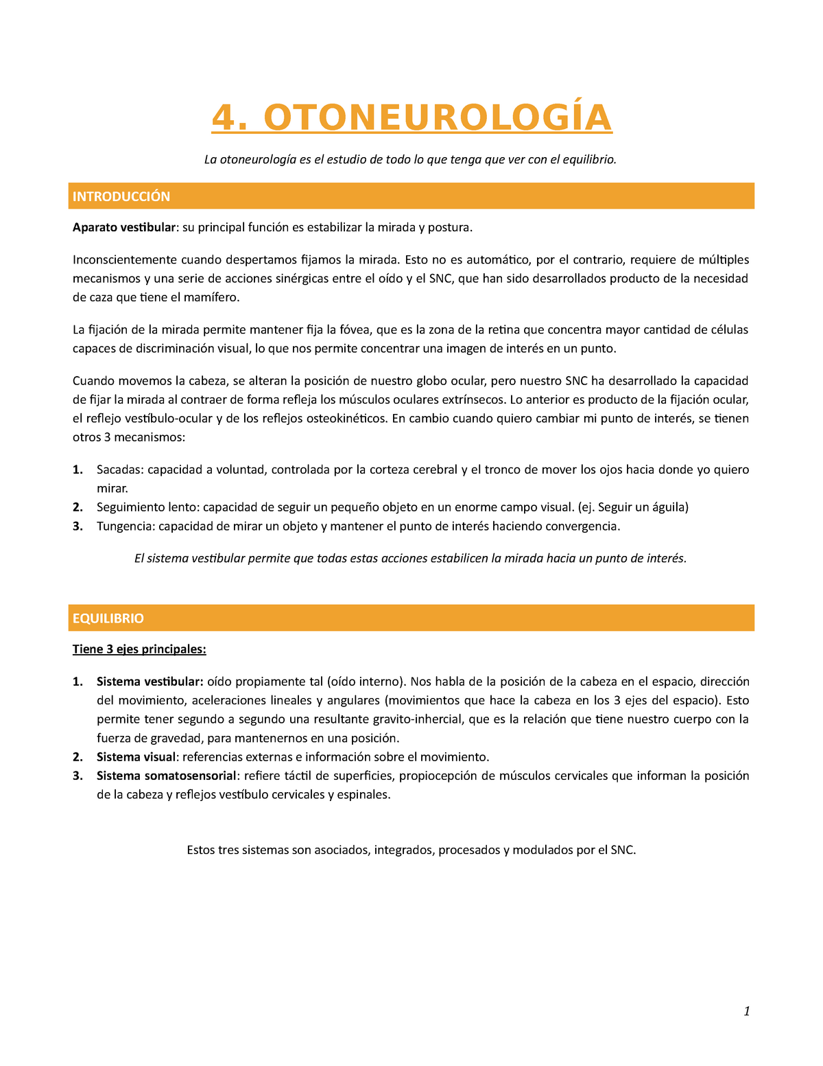 Patologia: Otoneurologia - Otorrinolaringologia - U Mayor