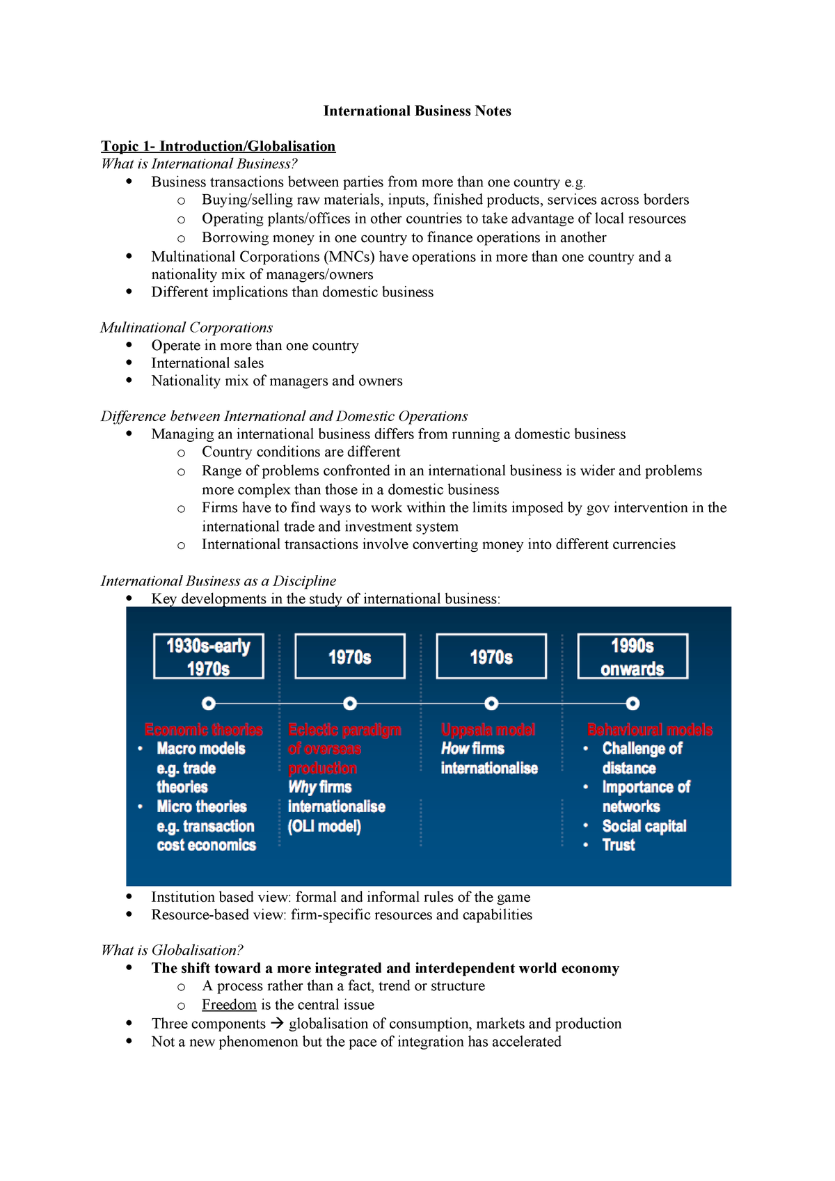 International-Business-Notes - BUSI2025 - ANU - StuDocu
