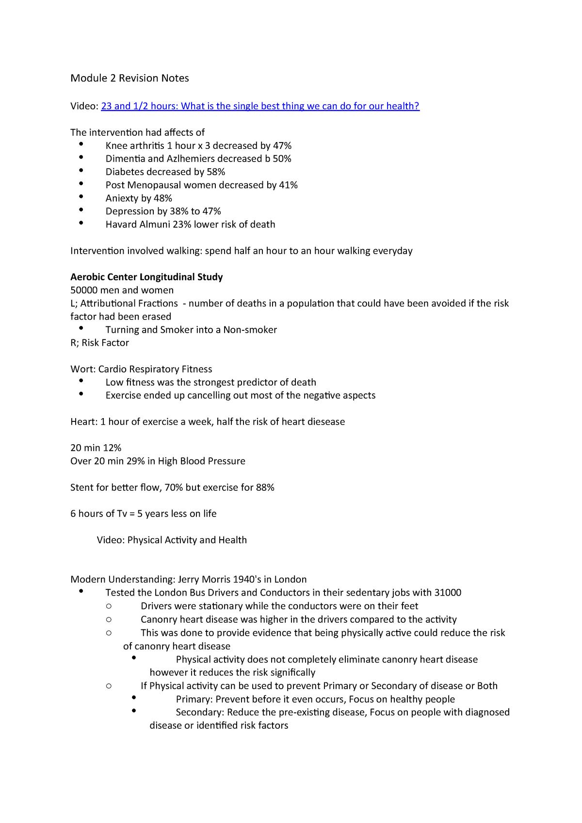 Module 2 Revision Notes - NUTR1023: Nutrition - StuDocu