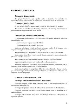 Apuntes, todos los temas - 16583: Fisiología Humana - StuDocu