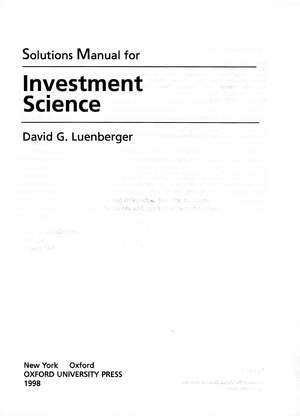 solution manual for investment science by david luenberger studocu rh studocu com CT Science Fair Projects Solar Distillation Images of Science Fair Projects
