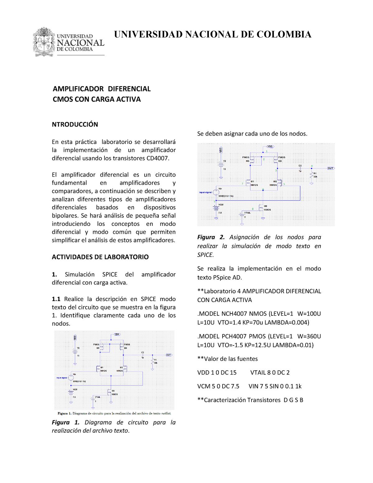 Opamp carga activa - Nota: 9,0 - 3007350: Electrónica Análoga II