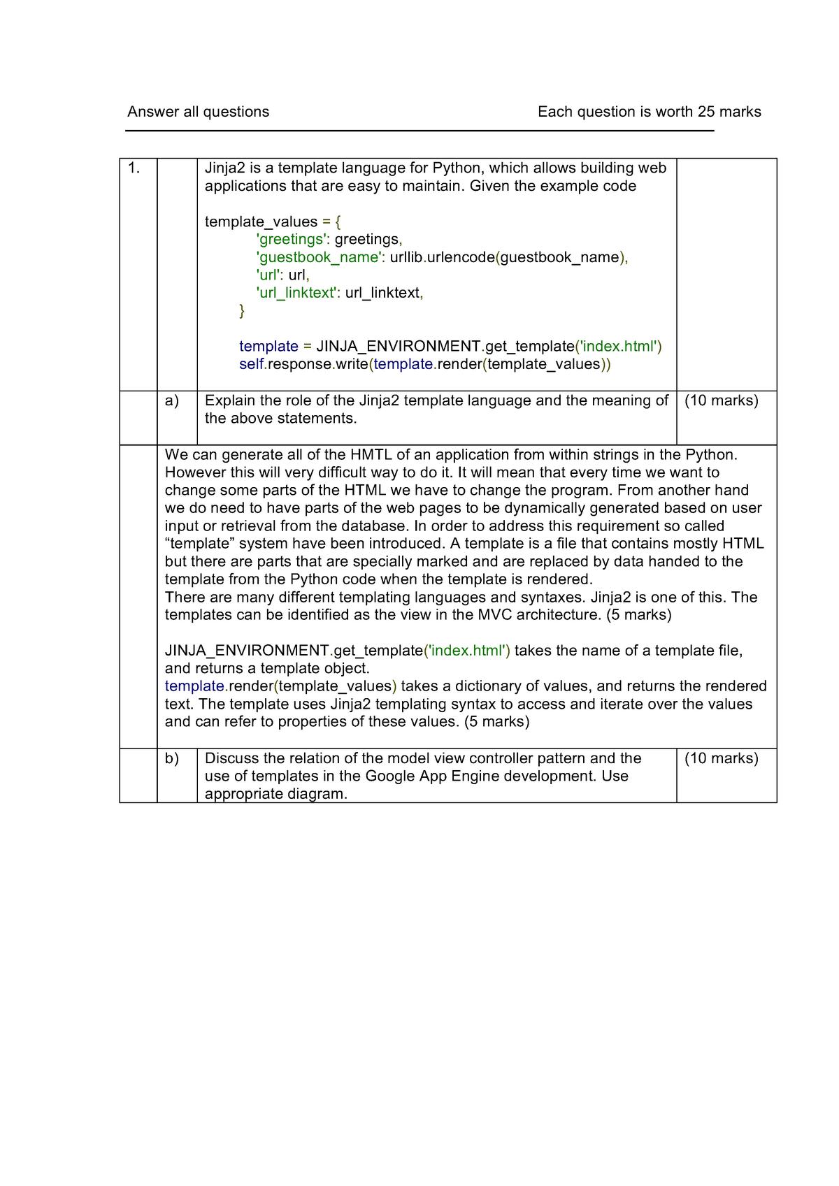Exam 2014 - 302CEM: Agile Development - StuDocu